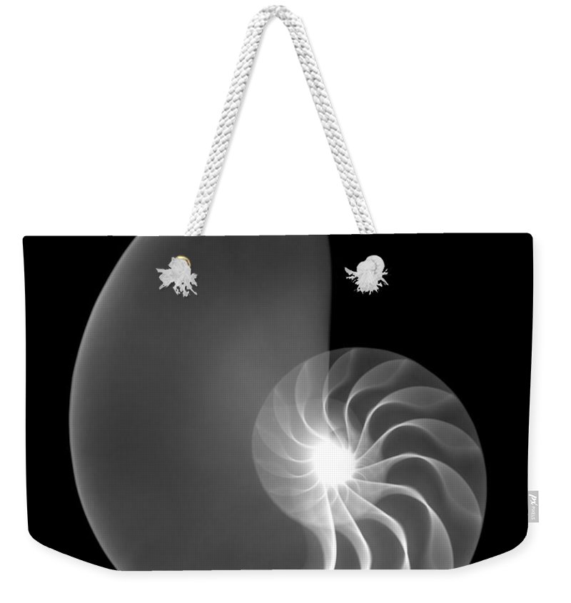 Xray Weekender Tote Bag featuring the photograph Chambered Nautilus Shell by Ted Kinsman