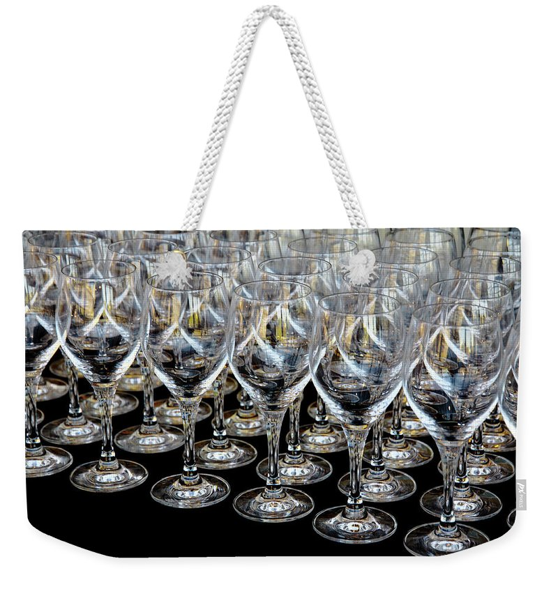 Flute Weekender Tote Bag featuring the photograph Champagne Army by Stephen Mitchell