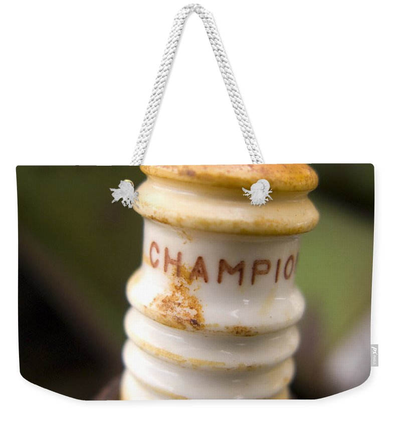 Champion Weekender Tote Bag featuring the photograph Champion by Jeffery Ball
