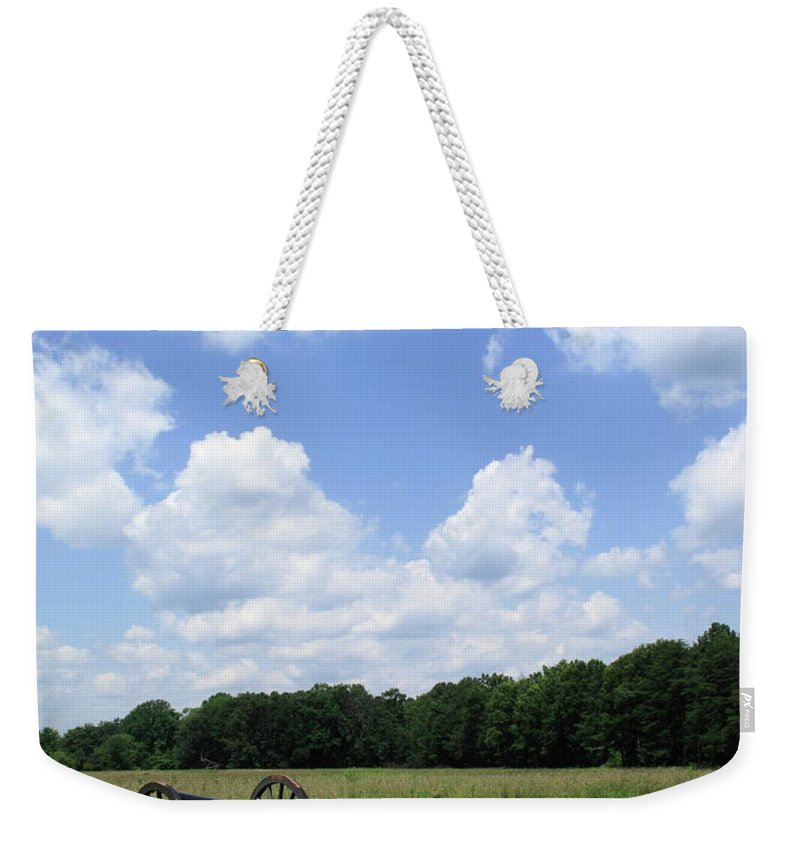 American Weekender Tote Bag featuring the photograph Chancellorsville Battlefield by Frank Romeo