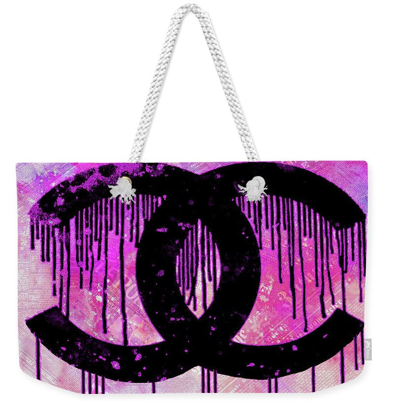 7ee0947ab901 Chanel Dripping Weekender Tote Bag featuring the painting Chanel Logo Print  Chanel Logo Poster Chanel Painting