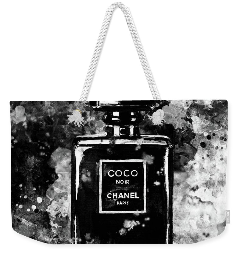 b6d7eae86822 Chanel Print Weekender Tote Bag featuring the painting Chanel Poster Chanel  Print Black And White Chanel