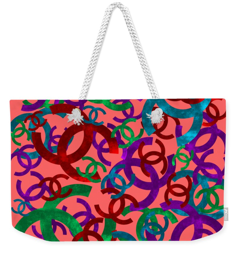 Chanel Weekender Tote Bag featuring the painting Chanel Sign-7 by Nikita