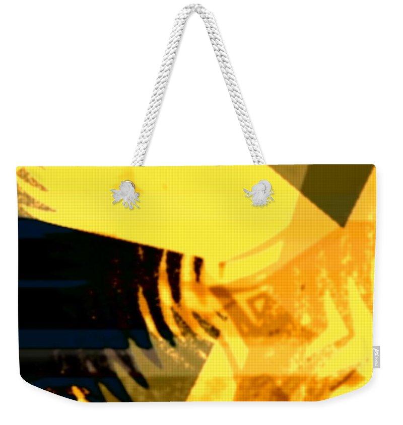 Art Digital Art Weekender Tote Bag featuring the digital art Change - Leaf10 by Alex Porter