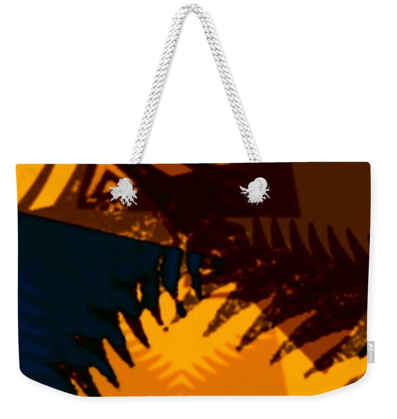 Art Digital Art Weekender Tote Bag featuring the digital art Change - Leaf13 by Alex Porter