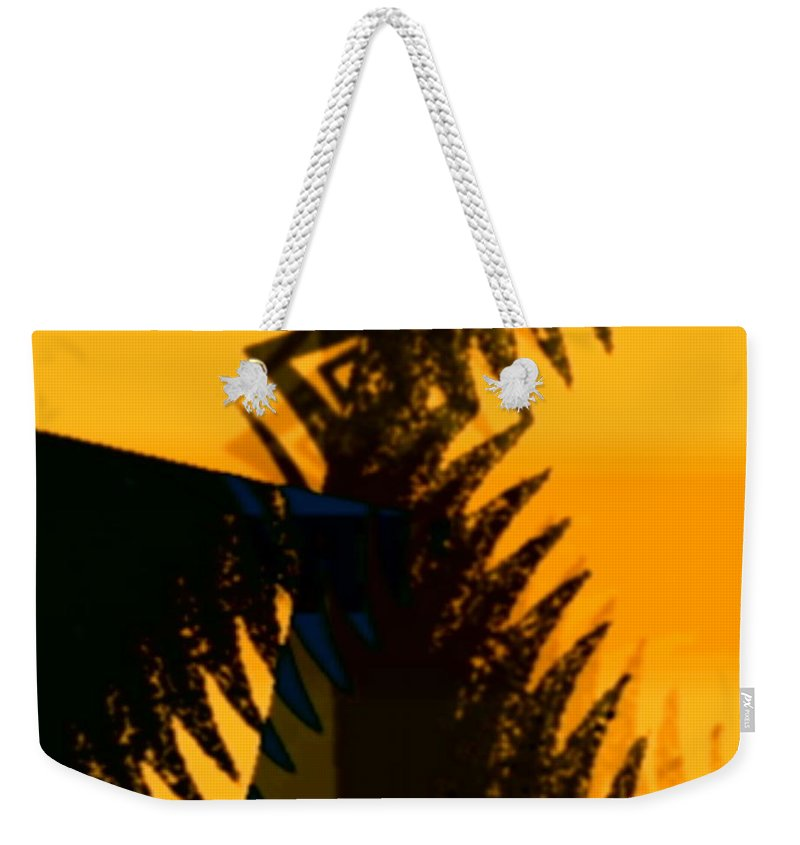 Art Digital Art Weekender Tote Bag featuring the digital art Change - Leaf3 by Alex Porter