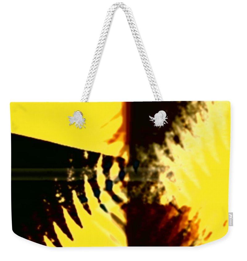 Art Digital Art Weekender Tote Bag featuring the digital art Change - Leaf5 by Alex Porter