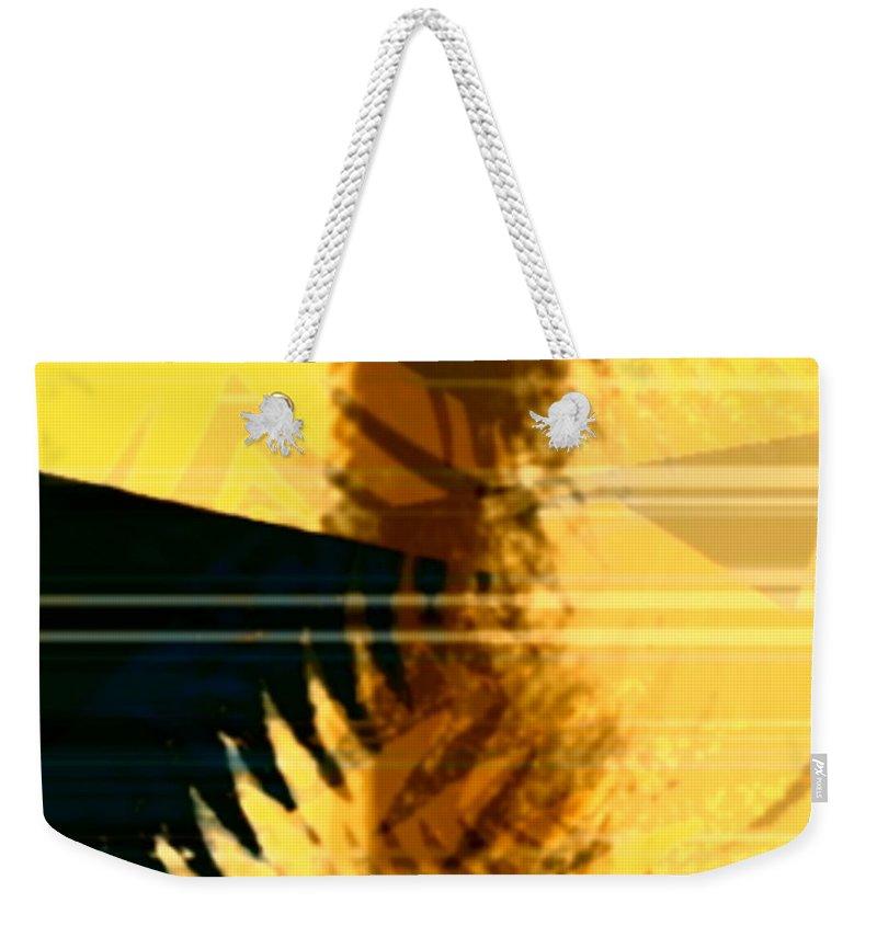 Art Digital Art Weekender Tote Bag featuring the digital art Change - Leaf7 by Alex Porter