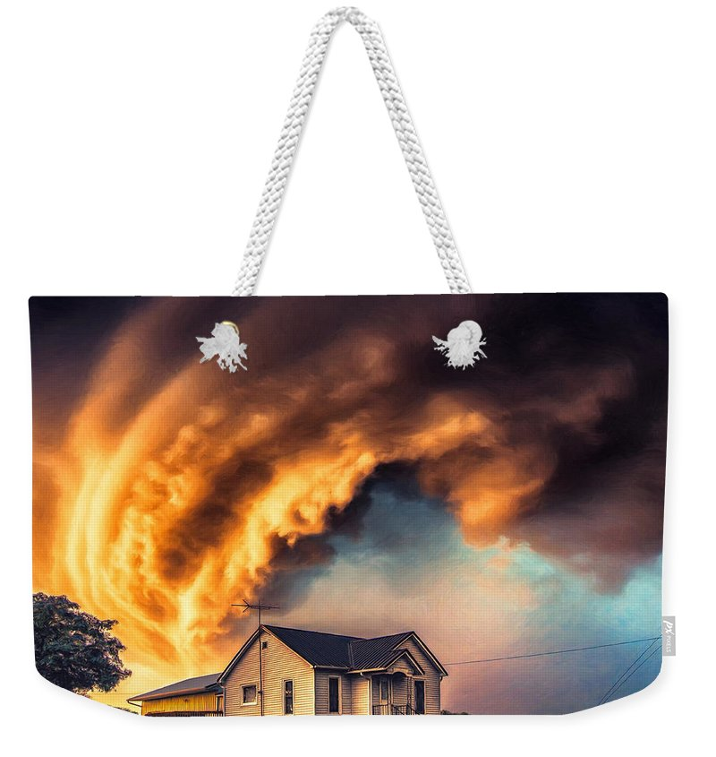 Tornado Weekender Tote Bag featuring the painting Change In The Weather 2 by Dominic Piperata
