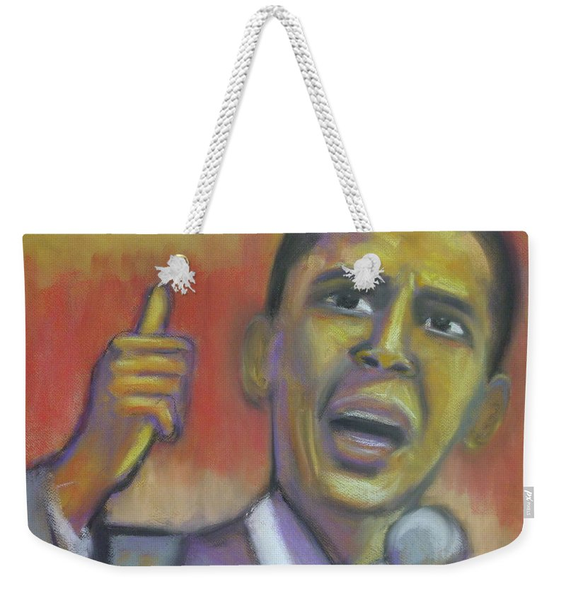 African American Weekender Tote Bag featuring the drawing Change Is Coming by Jan Gilmore