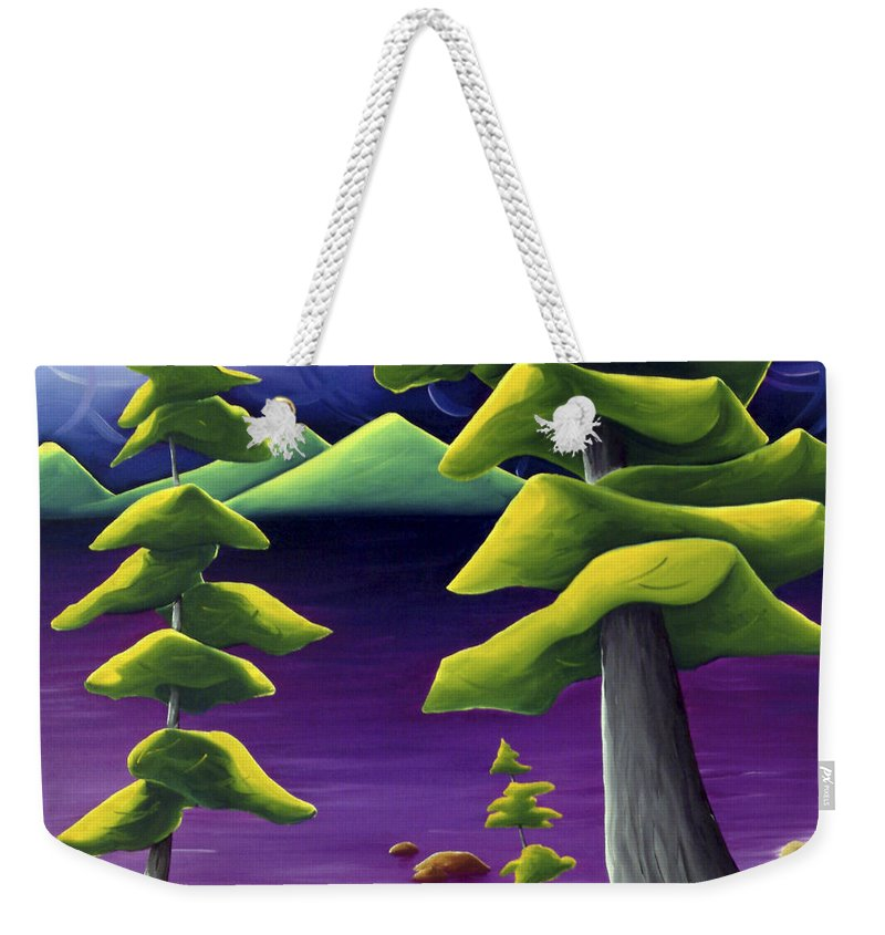 Landscape Weekender Tote Bag featuring the painting Change Of Pace by Richard Hoedl