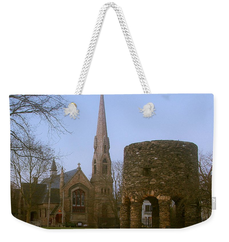 Church Weekender Tote Bag featuring the photograph Channing Memorial Church by Steven Natanson