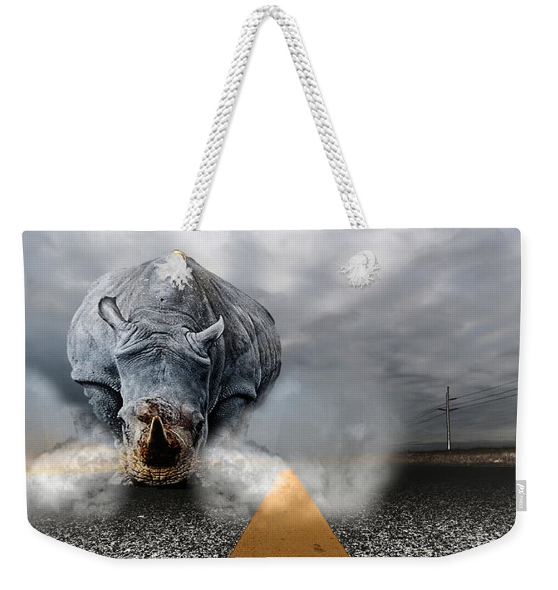 Chaos Artwork Photoshop Weekender Tote Bag featuring the digital art Chaos by Alex Grichenko
