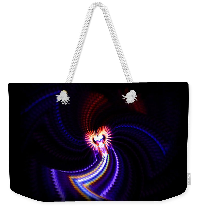 Chaos Weekender Tote Bag featuring the painting Chaos Dance by Charles Stuart
