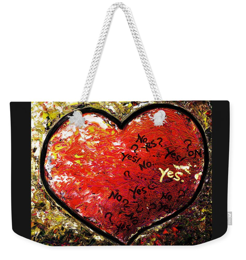 Pop Weekender Tote Bag featuring the painting Chaos In Heart by Hiroko Sakai