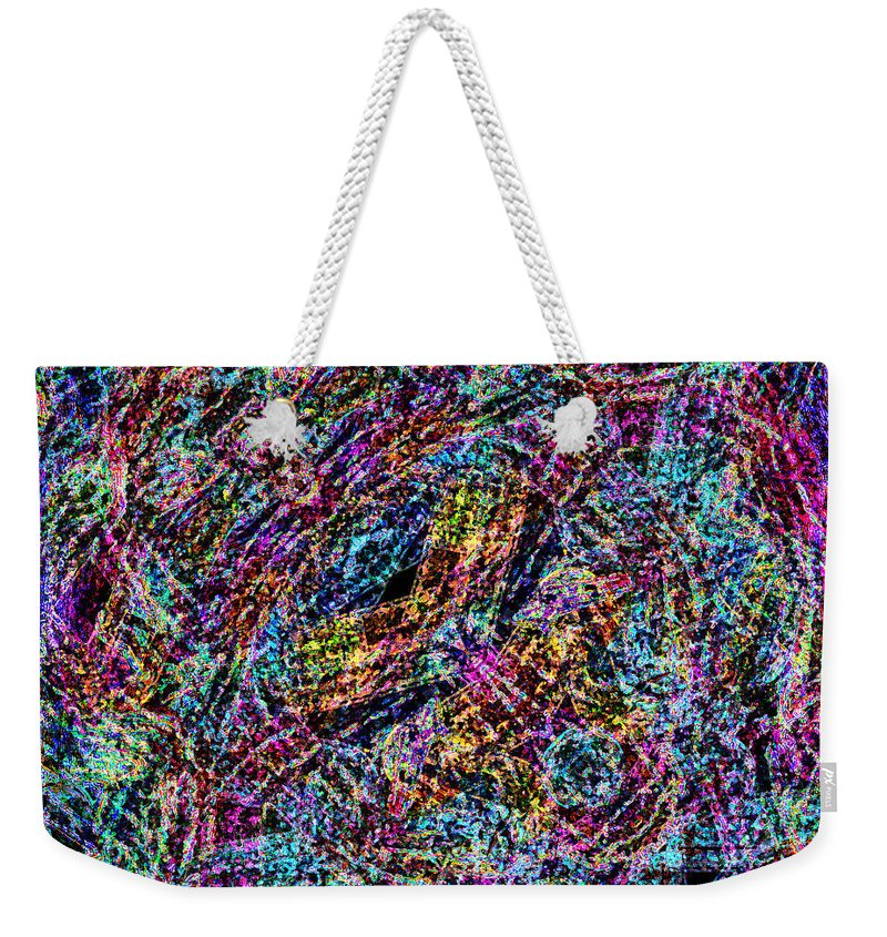 Weekender Tote Bag featuring the digital art Chaos Theory by Blind Ape Art