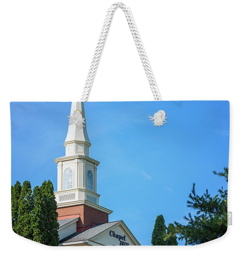 Golf Course Weekender Tote Bag featuring the photograph Chapel Hill Golf Course Clubhouse by Tom Mc Nemar