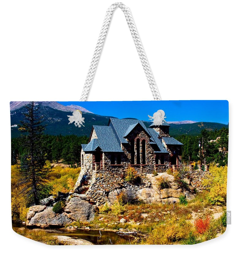 Chapel On The Rock Weekender Tote Bag featuring the photograph Chapel On The Rock by James BO Insogna