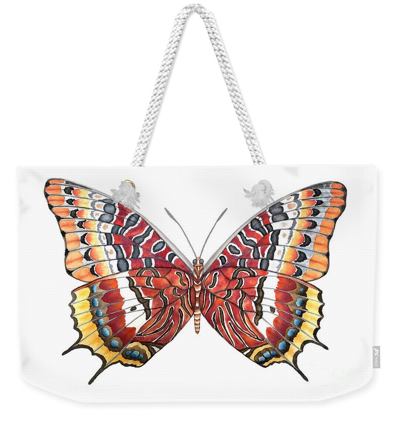 Butterfly Weekender Tote Bag featuring the painting Charaxes Butterfly by Lucy Arnold