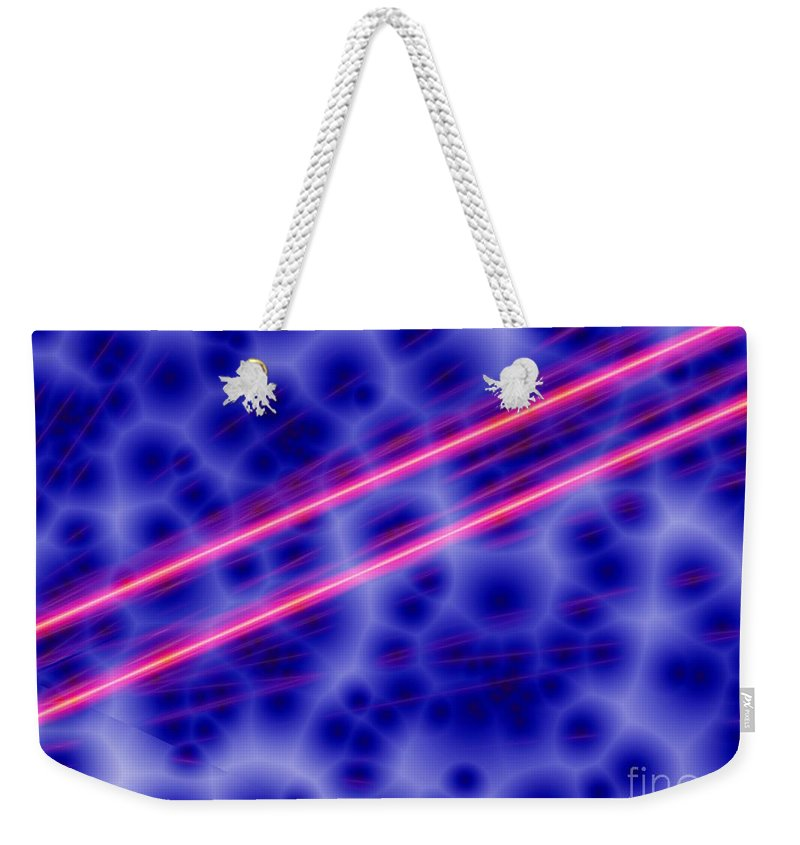 Electricity Weekender Tote Bag featuring the digital art Charged by Ron Bissett