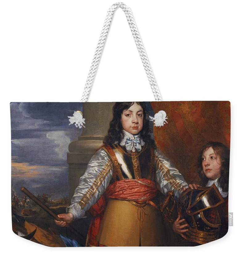 Painting Weekender Tote Bag featuring the painting Charles II - King Of Scots And King Of England by Mountain Dreams