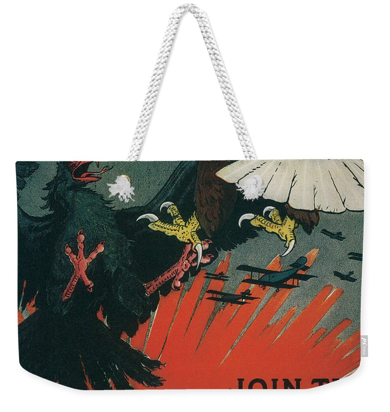 join The Army Air Service Be An American Eagle Weekender Tote Bag featuring the digital art Join The Army Air Service by Define Studio