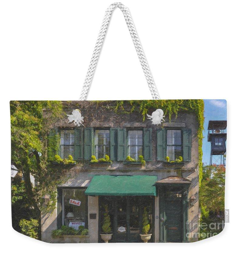 Charleston Gardens Weekender Tote Bag featuring the digital art Charleston Gardens by Dale Powell