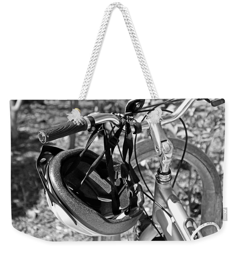 Bicycle Weekender Tote Bag featuring the photograph Chasing Beautiful by Michiale Schneider