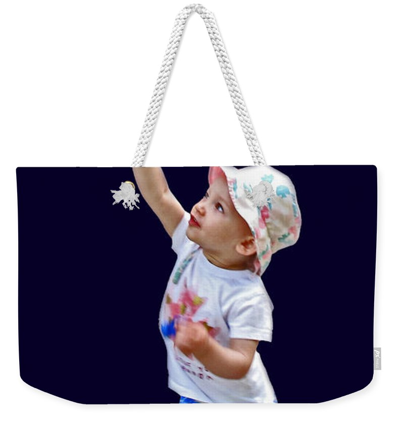 Bubbles Weekender Tote Bag featuring the photograph Chasing Bubbles by Ian MacDonald