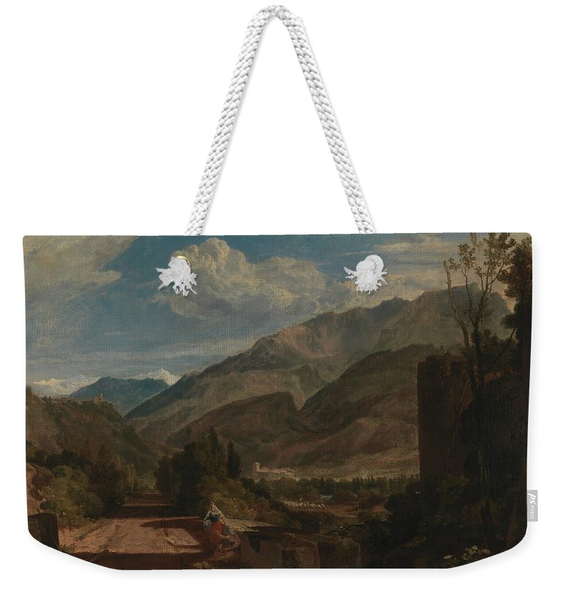 19th Century Art Weekender Tote Bag featuring the painting Chateau De St Michael by Joseph Mallord William Turner