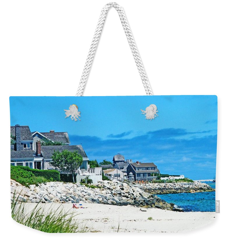 Vacation Weekender Tote Bag featuring the photograph Chatham Cape Cod by Lizi Beard-Ward
