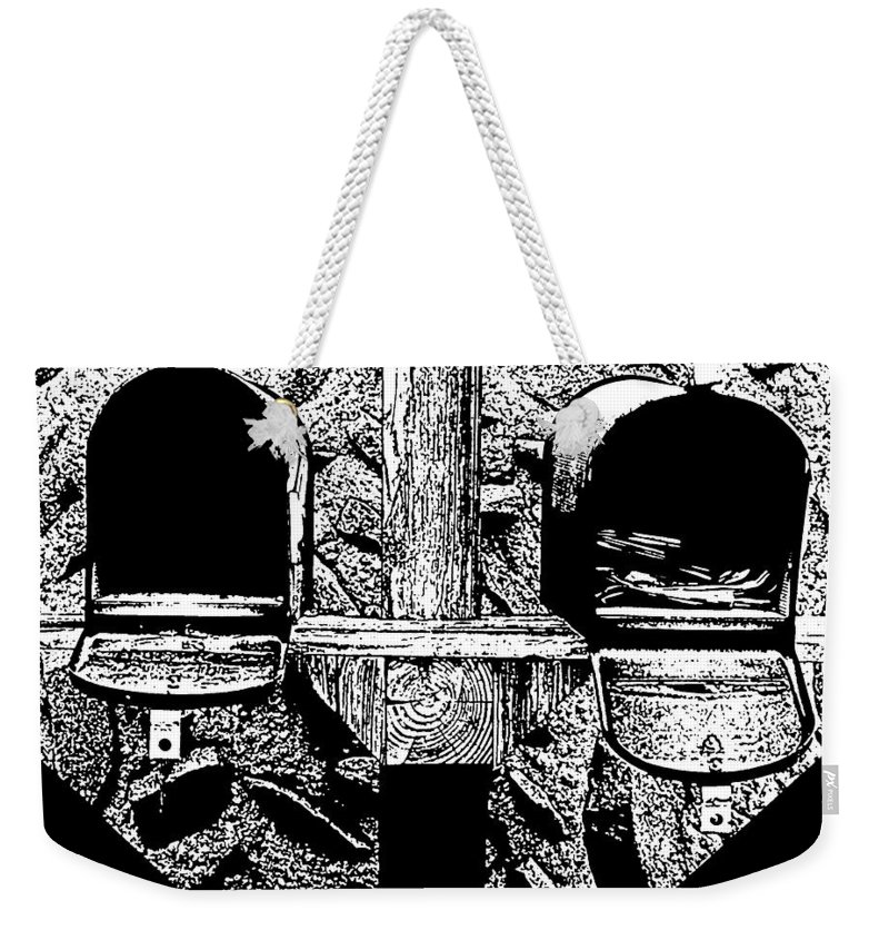 Mail Weekender Tote Bag featuring the photograph Check Day by Albert Stewart