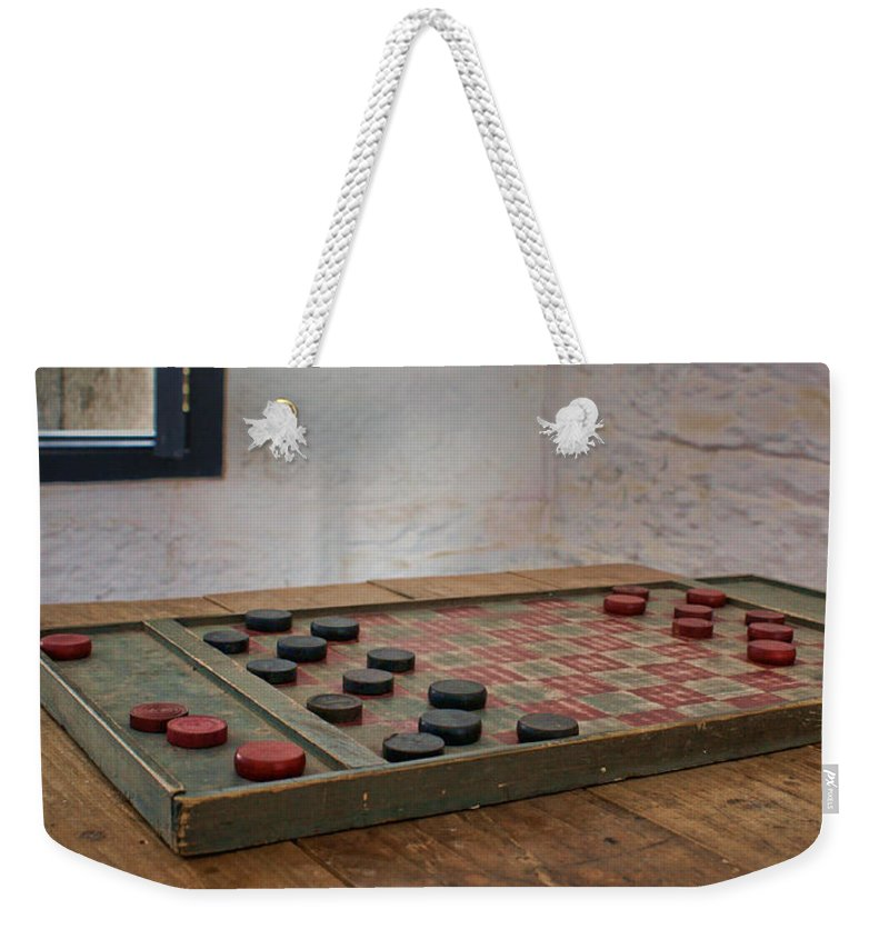 Checkered Past Weekender Tote Bag featuring the photograph Checkered Past - Checkers by Nikolyn McDonald
