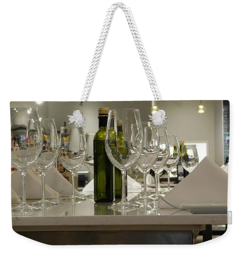 Still Life Weekender Tote Bag featuring the photograph Cheers by Arlane Crump