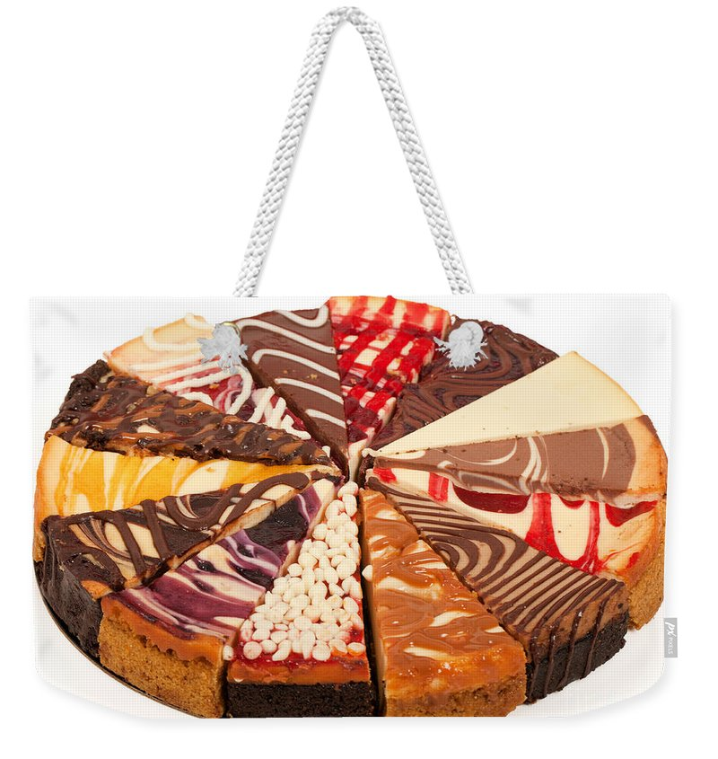 Slices Weekender Tote Bag featuring the photograph Cheesecake by Anthony Totah
