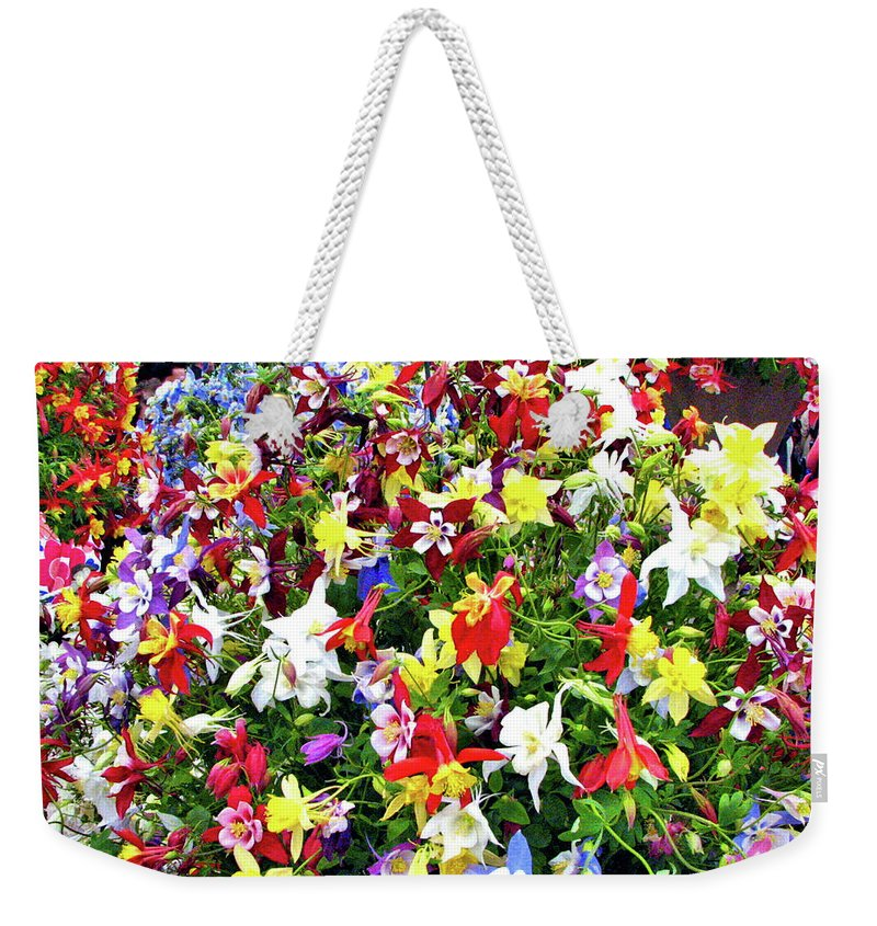 Flowers Weekender Tote Bag featuring the photograph Chelsea Flower Show by Don Siebel