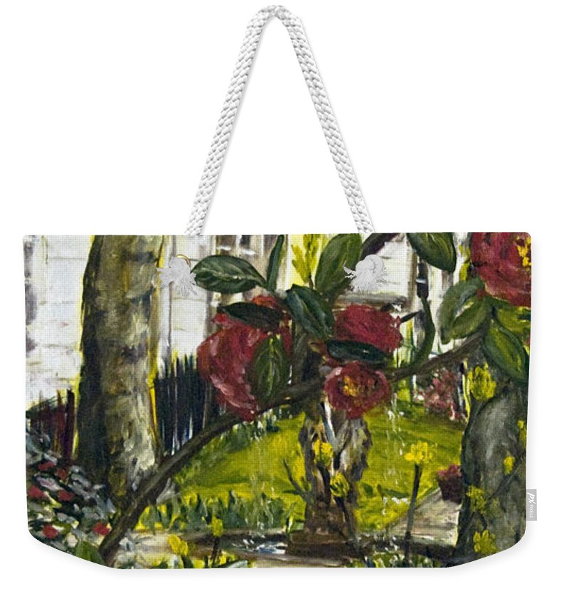 Landscape Weekender Tote Bag featuring the painting Chelsea by Pablo de Choros