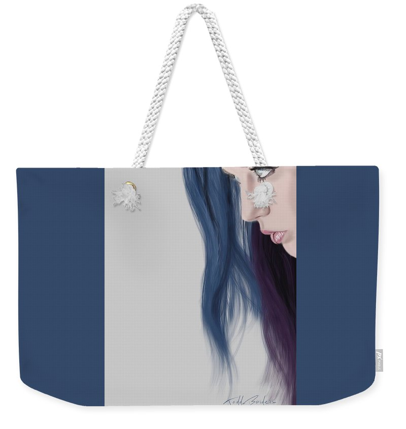 Portrait Weekender Tote Bag featuring the digital art Chelsea by Todd Borders