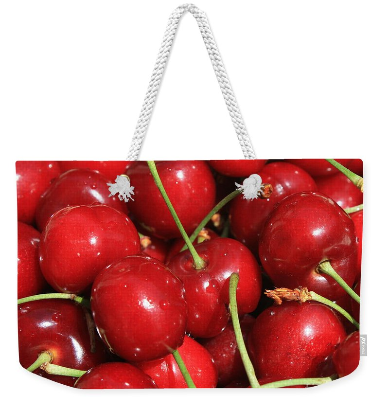 Food And Beverages Weekender Tote Bag featuring the photograph Cherries by Carol Groenen