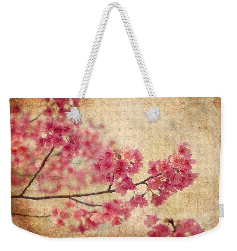 Pink Flower Photographs Weekender Tote Bags