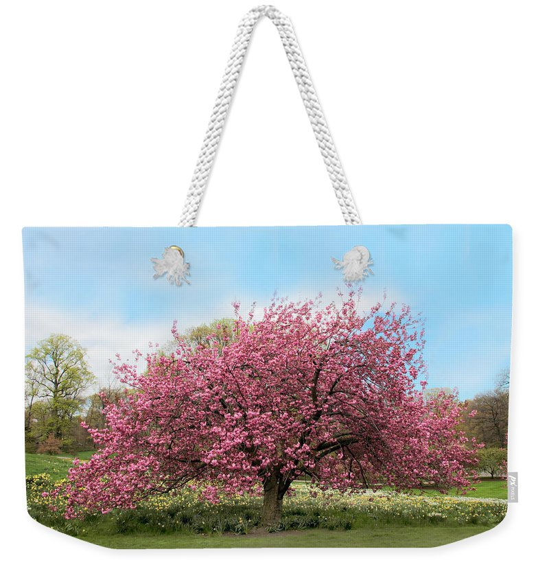 Nature Weekender Tote Bag featuring the photograph Cherry Grove by Jessica Jenney