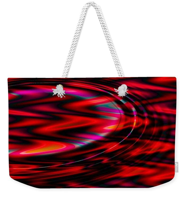 Wave Weekender Tote Bag featuring the digital art Cherry Red by Robert Orinski