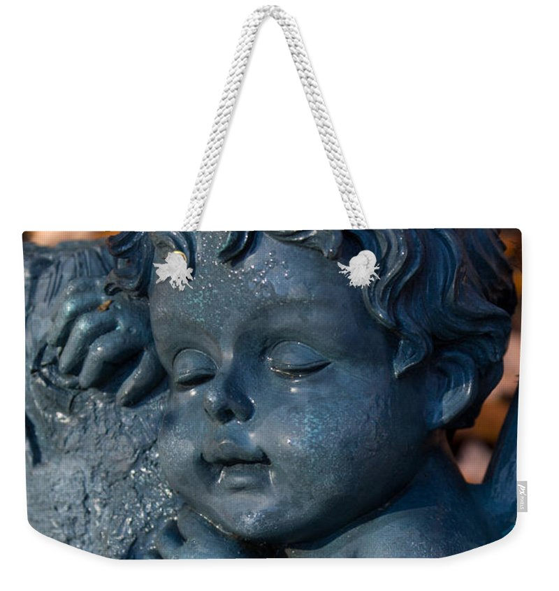 Cherub Weekender Tote Bag featuring the photograph Cherub Sleeping by Douglas Barnett