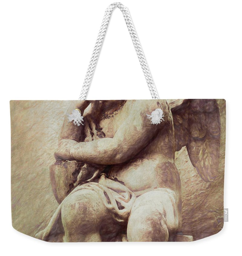 Cherub Weekender Tote Bag featuring the photograph Cherub by Tom Mc Nemar