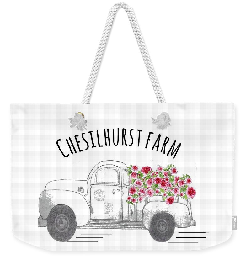 Chesilhurst Farm Weekender Tote Bag featuring the drawing Chesilhurst Farm by Kim Kent