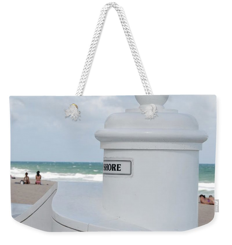 Shore Weekender Tote Bag featuring the photograph Chess Pawn Shore by Rob Hans