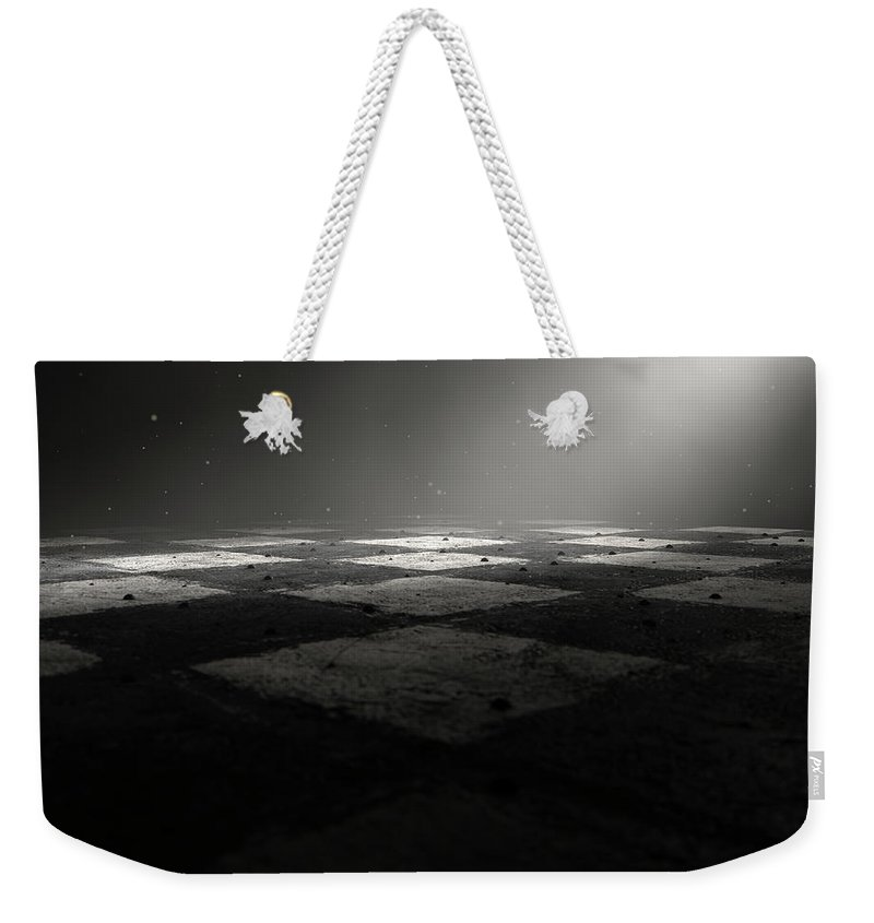 Chess Weekender Tote Bag featuring the digital art Chessboard Dark by Allan Swart