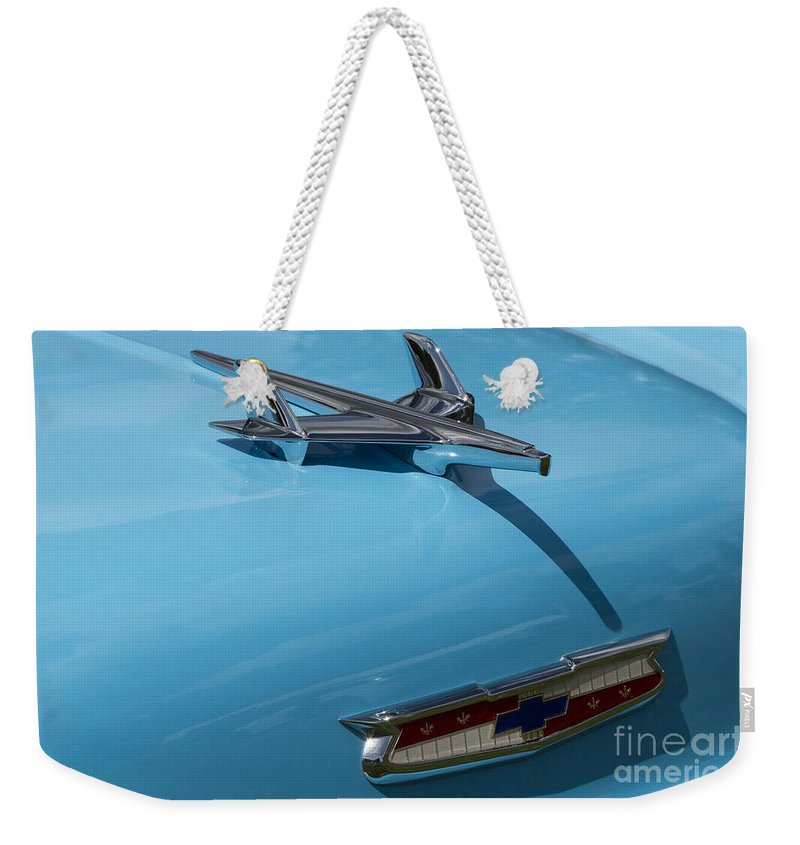 Chevrolet Weekender Tote Bag featuring the photograph Chevrolet 13 by Wendy Wilton