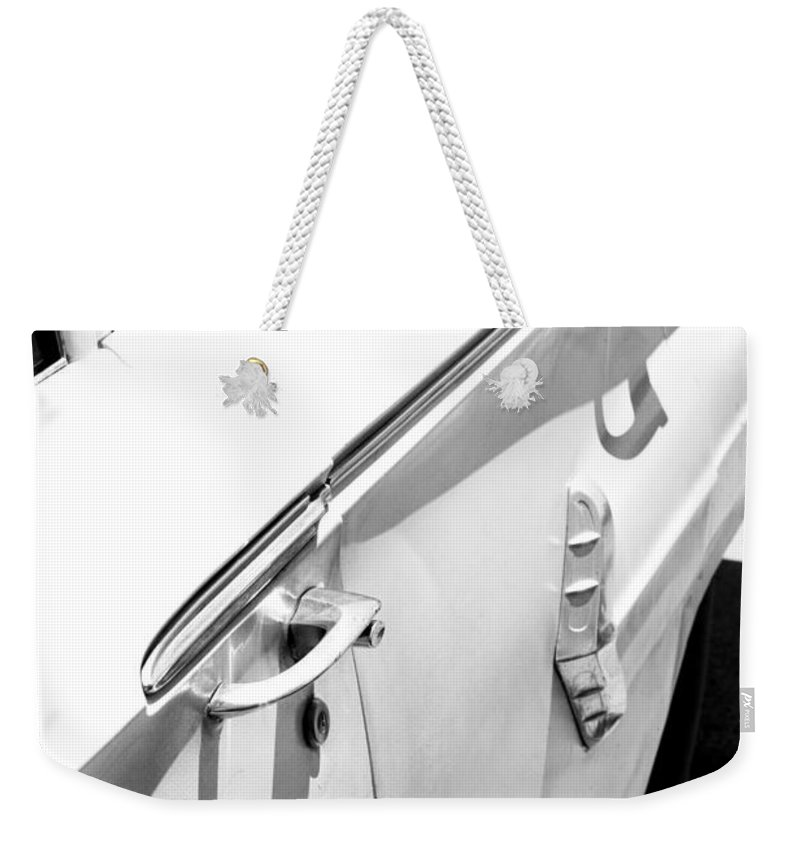 Biscayne Weekender Tote Bag featuring the photograph Chevy Biscayne by Amanda Barcon
