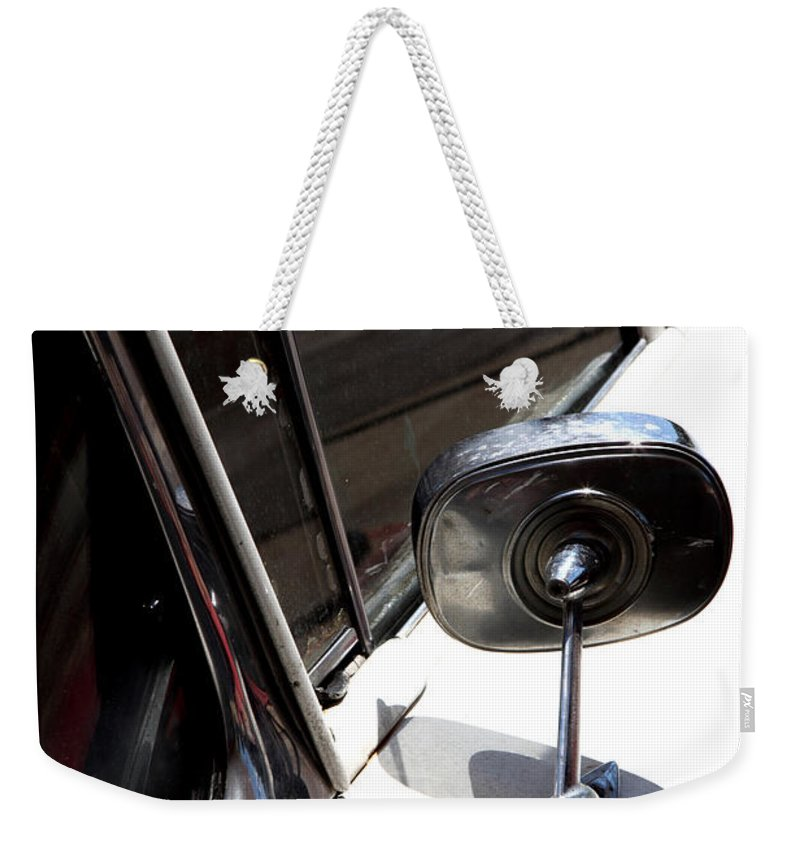 Biscayne Weekender Tote Bag featuring the photograph Chevy Looking Back by Amanda Barcon